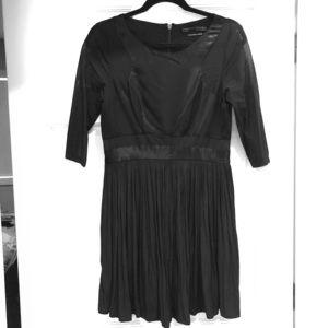 All Saints Black Silk Dress